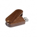 USB memory stick capacitate 8 GB personalizat WoodyFlash MO1055-01 lemn maro