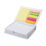 Bloc notes autoadeziv 100 file si post it coperti ALB argintiu MO7627 GIFTS
