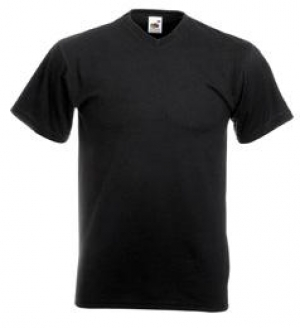 Tricou F08�Fruit of the Loom VALUEWEIGHT V-NECK T /MEN� 160 g/m2� MTEXTILE negru